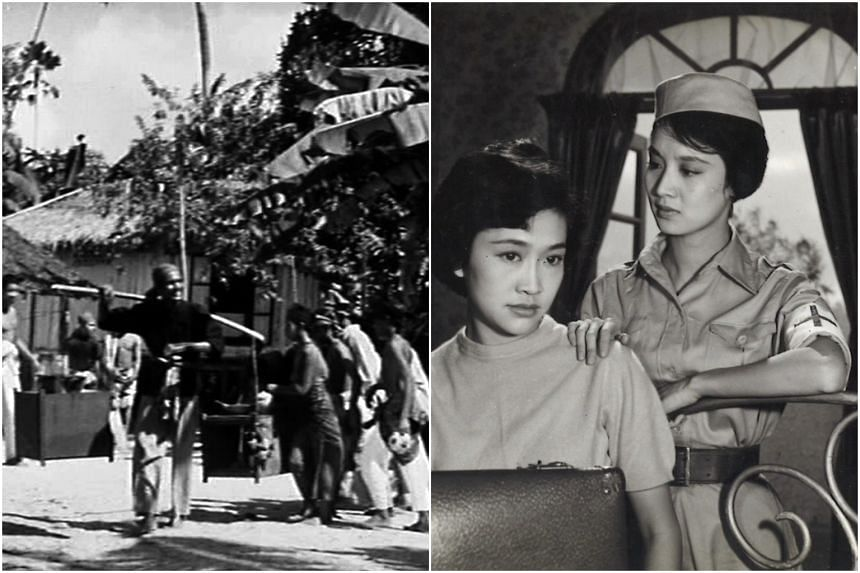 Stills from Sumpah Pontianak (left) and Sun, Moon And Star.