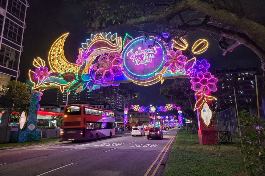 This year's Hari Raya street lightings and decorations will last till May 23, with the lights switched on daily from 7pm to midnight.