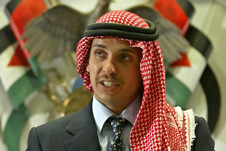 People familiar with the situation said that Prince Hamza's (pictured) visit had undermined his half-brother the king.