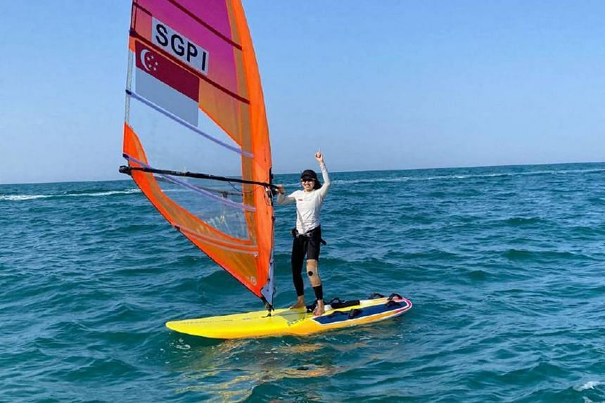 Despite injuring herself just two days before the start of the Mussanah Open Championship in Oman, national windsurfer Amanda Ng competed in 13 races and managed to secure an Olympic berth for Singapore.