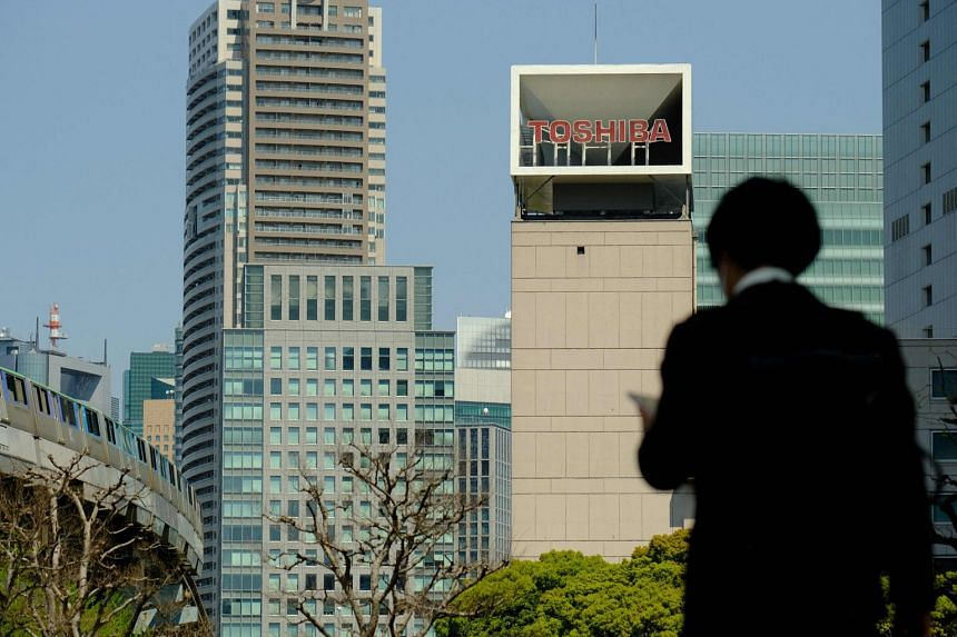 Toshiba, once a storied name in Japan, has faded dramatically since its glory days after years of management missteps as well as fraud and accounting scandals. PHOTO: AGENCE FRANCE-PRESSE