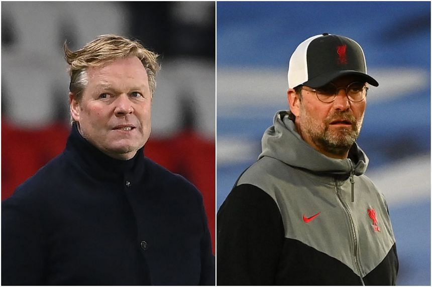 Barcelona coach Ronald Koeman criticised Liverpool manager Jurgen Klopp for disparaging Real Madrid's Alfredo di Stefano stadium.