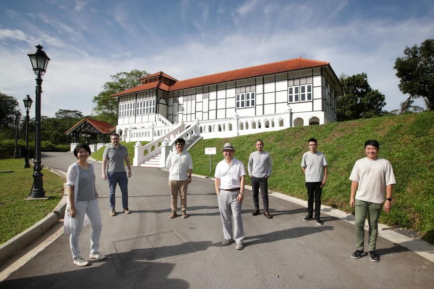 In 2016, the National Parks Board awarded the tender for the 8ha Gallop Extension to Kay Ngee Tan Architects, led by founder and principal architect Tan Kay Ngee (centre, with hat).