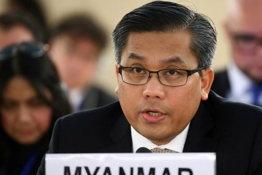 Ambassador Kyaw Moe Tun also called for an international arms embargo and the freezing of bank accounts.