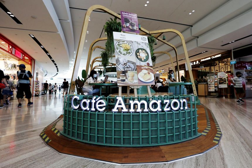PTTOR's Cafe Amazon at Singapore's Jewel Changi Airport.