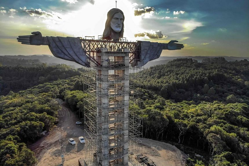 The statue will stand 43 metres tall, making it one of the world's tallest statues of Christ.