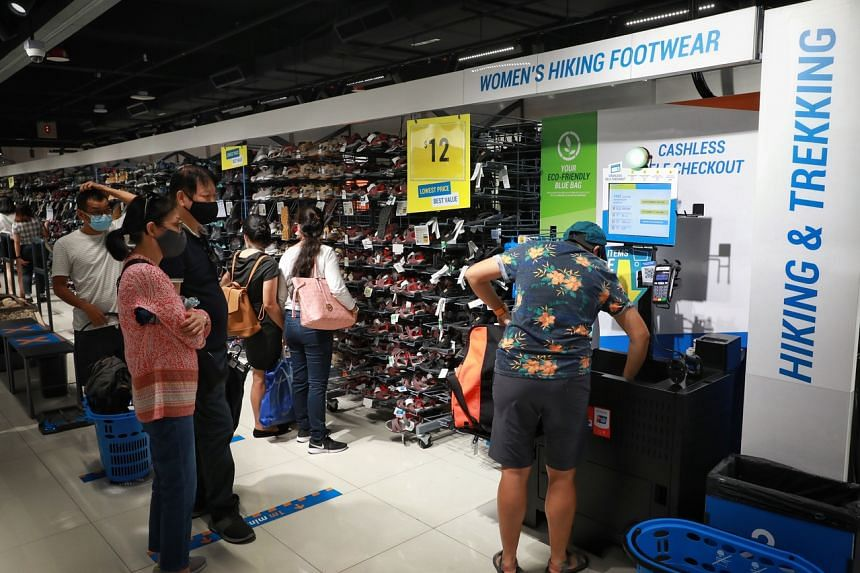 Decathlon has switched to cashless, self-checkout kiosks for all its branches.
