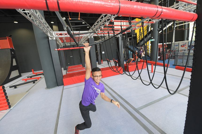 HomeTeamNS Khatib features an indoor adventure hub with slides, obstacle courses and climbing facilities.