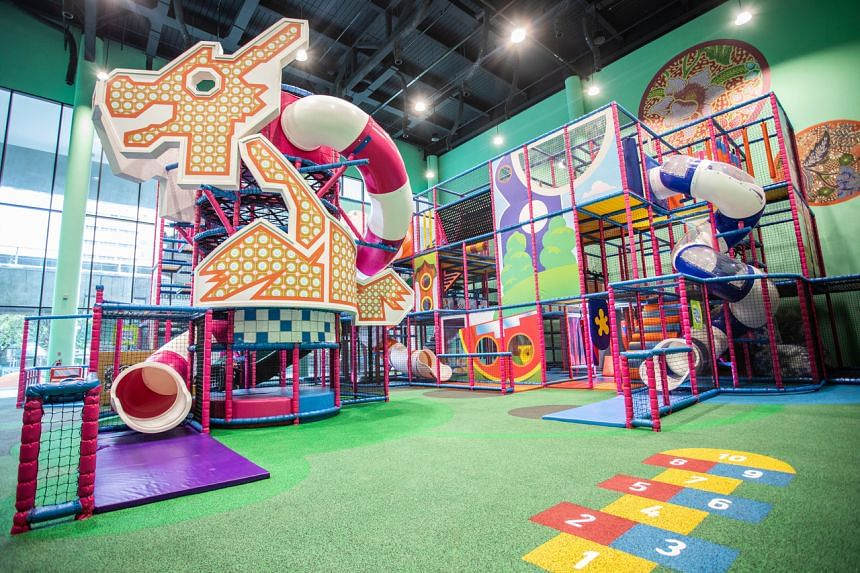 HomeTeamNS Khatib also features a Peranakan-themed indoor playground.
