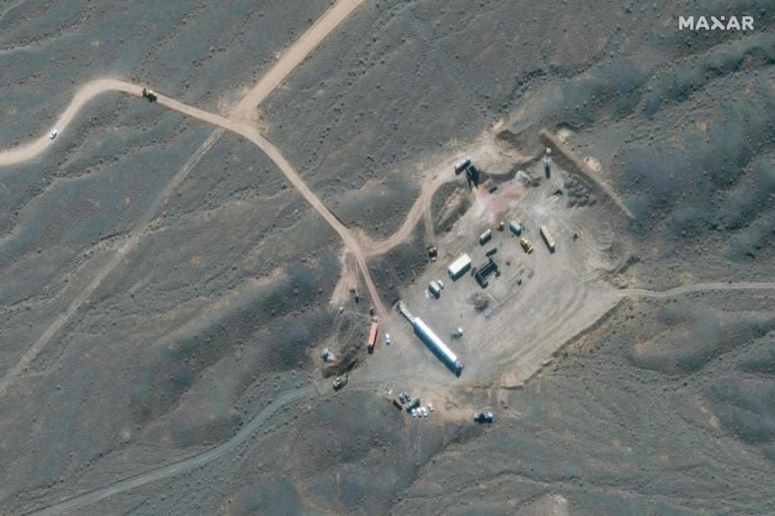 A satellite image showing an overview of Iran's Natanz nuclear facility in Tehran, on Jan 28, 2020.