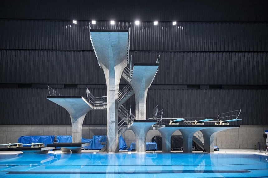 The Tokyo Aquatics Centre (pictured) is the venue for swimming, diving and artistic swimming at the 2020 Tokyo Olympics and Paralympics Games.