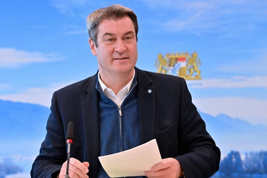 Bavarian leader Markus Soeder told participants he is ready to run if the CDU backs him.