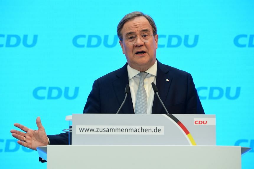 Mr Armin Laschet took over as leader of German chancellor Angela Merkel's CDU party in January.