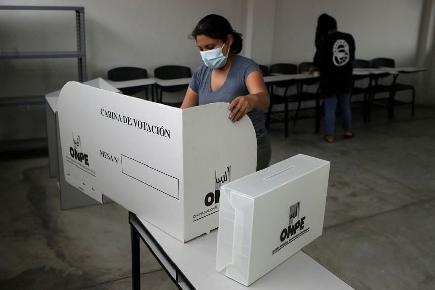 Peru's 25.2 million eligible voters have been told to wear masks to prevent the spread of Covid-19 and bring their own pens to mark ballots.
