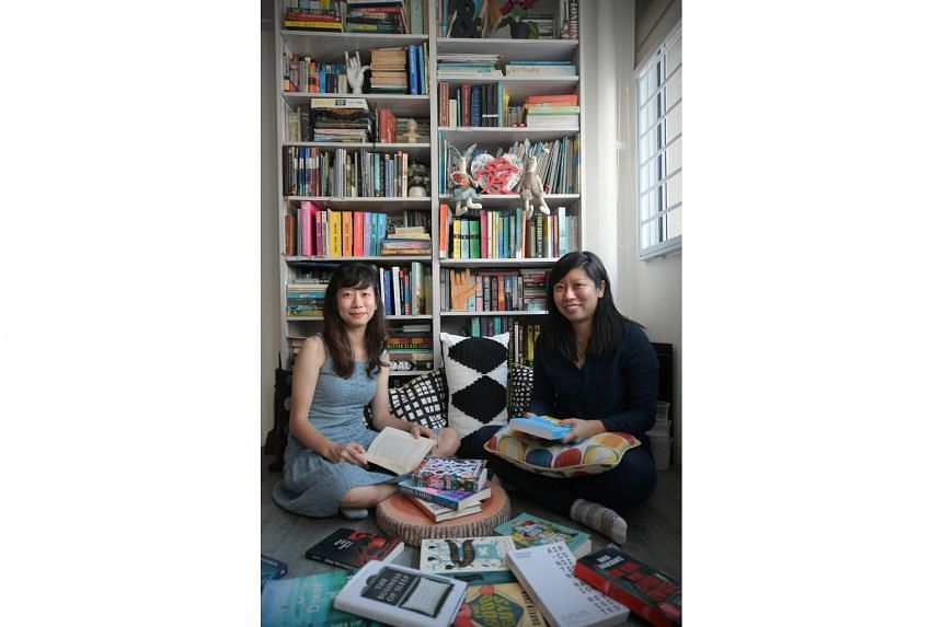 Sisters Grace (left) and Sarah Phua post pithy reviews with aesthetic photos of books on Instagram.