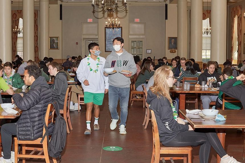 More families in the United States are sending their children to boarding schools like Western Reserve Academy in Ohio (pictured here) so they can experience a life resembling pre-pandemic normality.