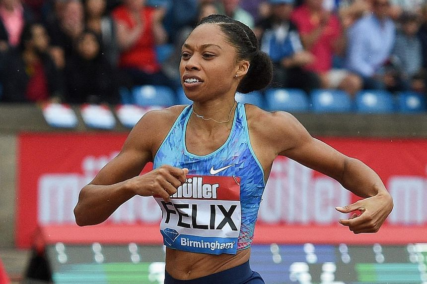 American sprinter Allyson Felix plans to compete in the 200m and 400m at the US Olympic national trials in June.