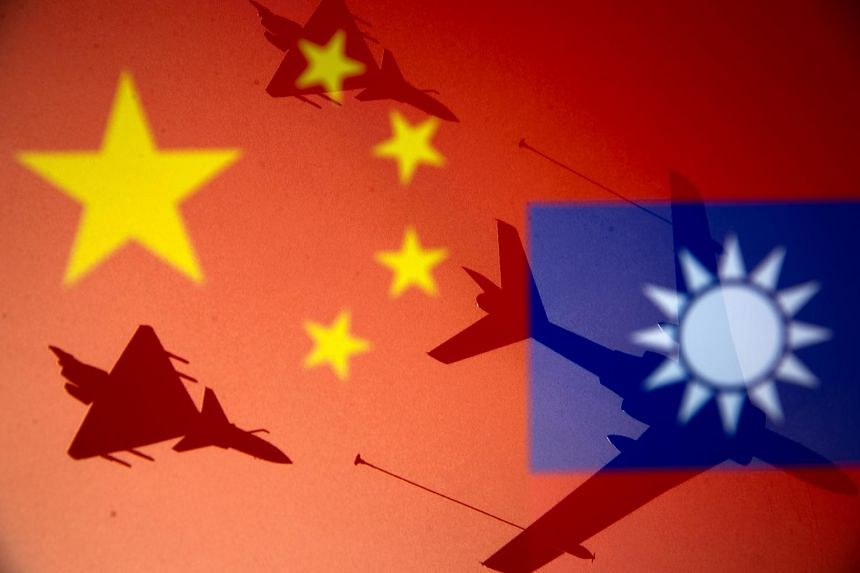 Twenty-five Chinese air force aircraft including fighters and nuclear-capable bombers had entered Taiwan's air defence identification zone.