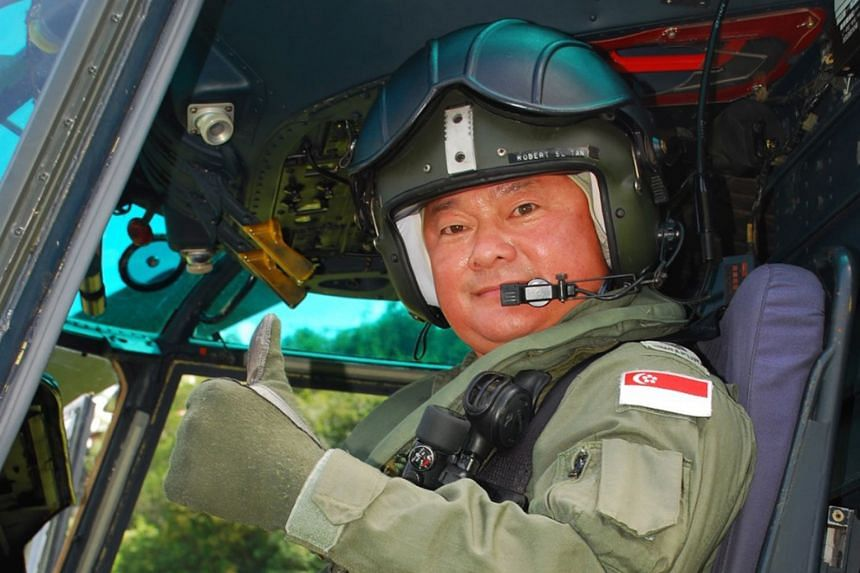 Mr Robert Tan, seen on his last Super Puma flight on July 22, 2015, clocked over 3,600 hours of flight time on the helicopter.