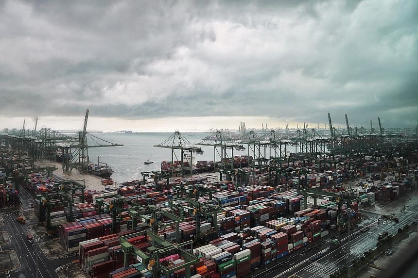 Singapore's port activities have not been as severely impacted by Covid-19 as its aviation sector, with shipyard activities rebounding to 70 to 80 per cent of pre-Covid-19 levels within two months. A reduced workforce, however, still keeps it from re