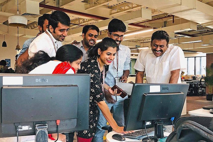 Employees at the Chennai office of Crayon Data, a Singapore data and AI firm which has been in India since 2013. PHOTO: CRAYON DATA Clearpack CEO Govind Bhandari says that while he wishes India had better infrastructure, the government is already mak