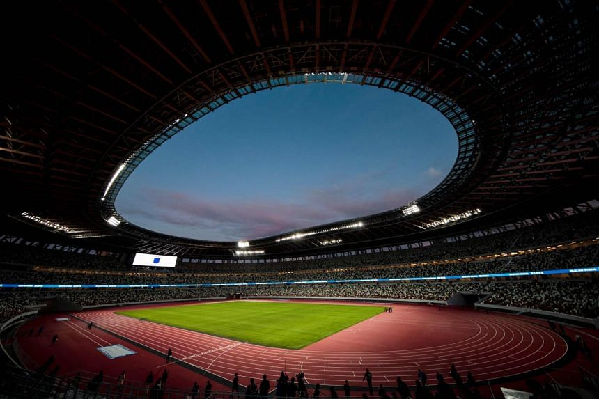 The 68,000-seater Olympic Stadium in central Tokyo has been built on the site of the 1964 stadium.