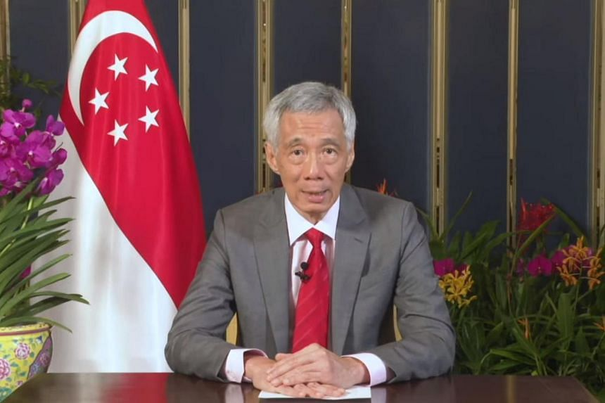 PM Lee Hsien Loong speaking at the launch of the World Health Organisation's Global Diabetes Compact, on April 14, 2021.