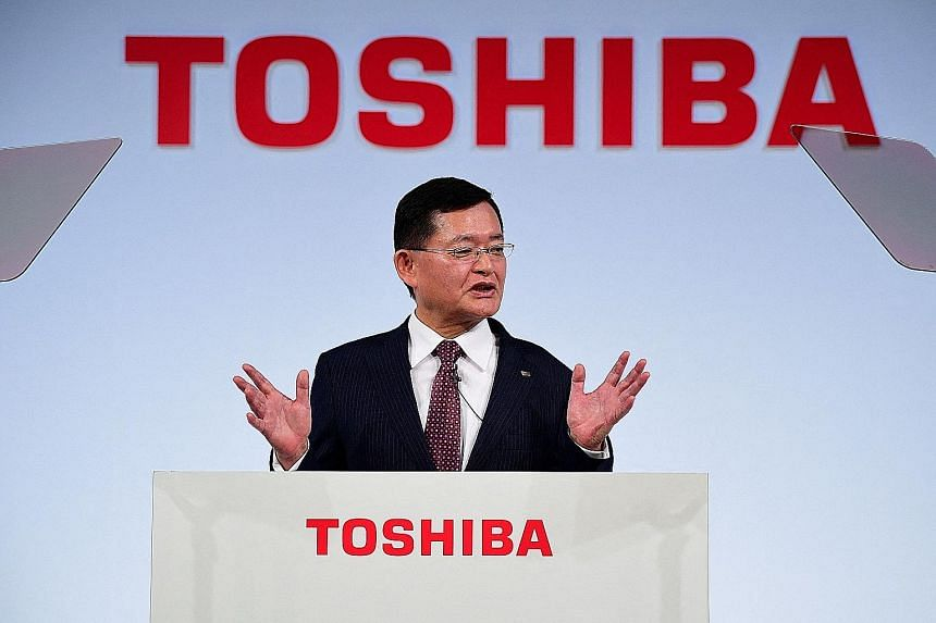 CVC's bid to take Toshiba private and retain the management was seen to be designed to shield Mr Nobuaki Kurumatani from shareholders who have pushed for an independent probe. PHOTO: AGENCE FRANCE-PRESSE