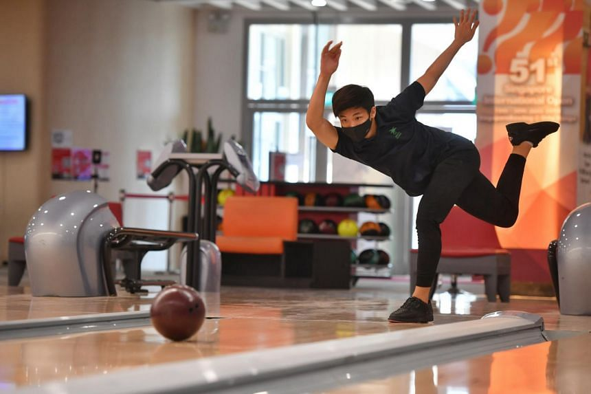 Ryan Toh trains four times a week with his bowling academy Bowling Is Science.