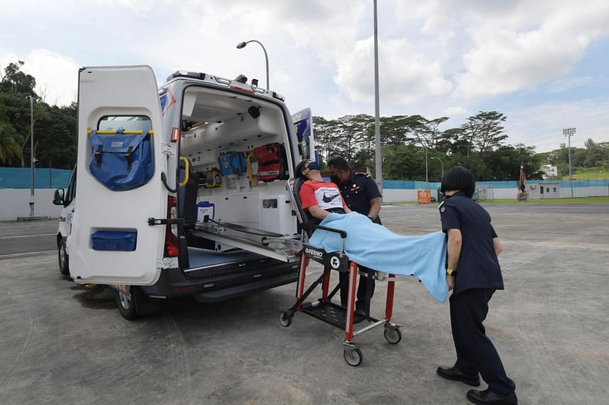 The Singapore Civil Defence Force's (SCDF) 7th generation ambulance was one of the new vehicles unveiled by the SCDF at its workplan seminar on Thursday (April 15).