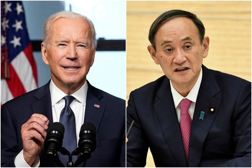 US President Joe Biden and Japanese Prime Minister Yoshihide Suga will meet in person on Friday (April 16).