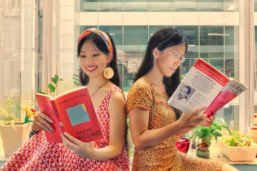 In this episode of Bookmark This!: Olivia Ho (left) with Klara And The Sun by Kazuo Ishiguro and Toh Wen Li (right) with A Bright Ray of Darkness by Ethan Hawke.