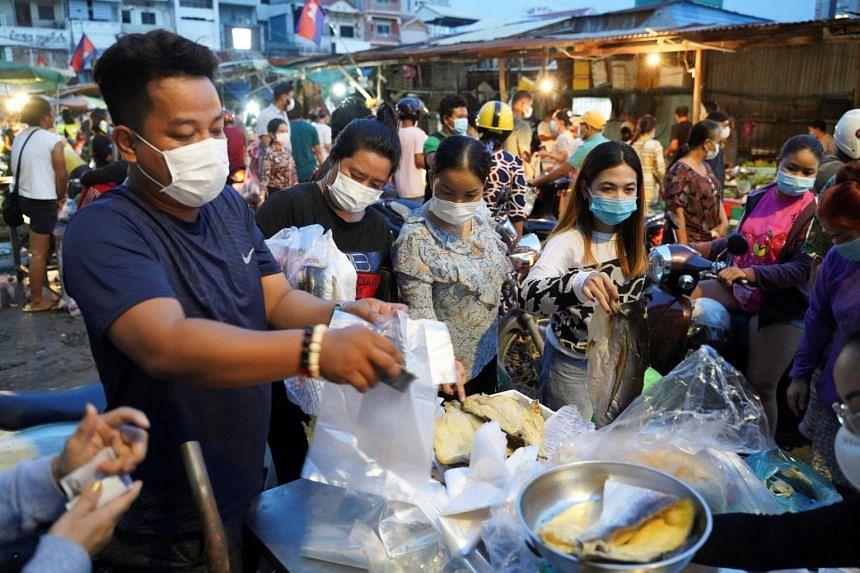 Cambodia has seen Covid-19 cases surge since February.