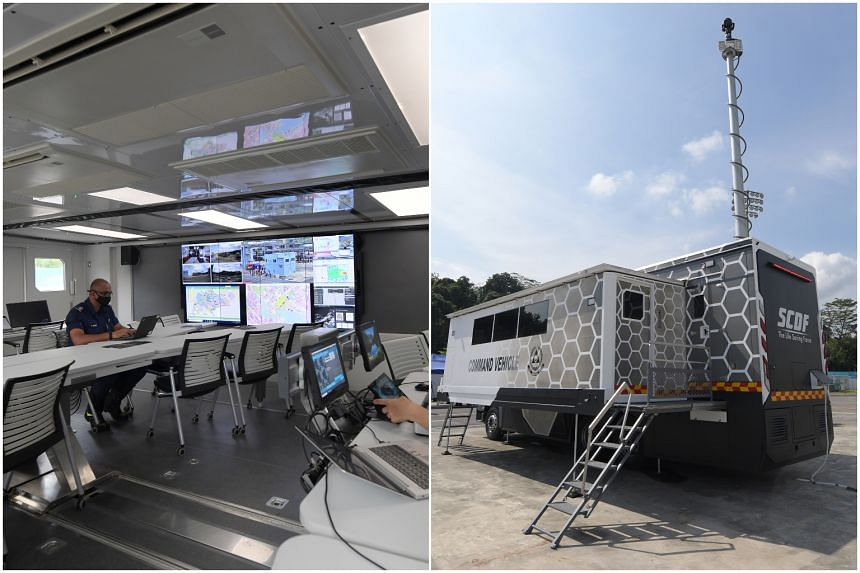 The new Command Vehicle was one of the vehicles unveiled by the Singapore Civil Defence Force at its workplan seminar on Thursday (April 15).