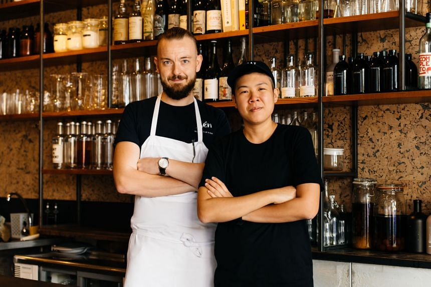 One of Michelin Guide Singapore's recent collaborations was between chef Tristin Farmer of Restaurant Zen and Ms Juan Yi Jun, co-owner of No Sleep Club.