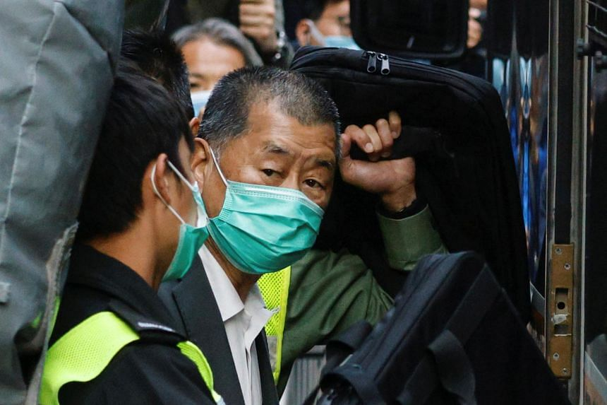 Jimmy Lai was sentenced on charges related to a rally that was not approved by the police.