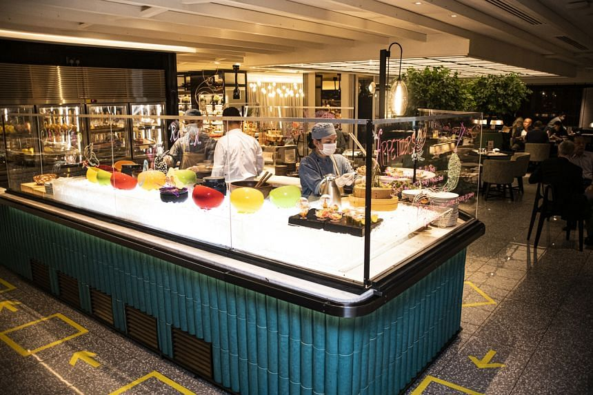 Orchard Cafe at Orchard Hotel is likely to start with staff serving diners for its breakfast buffet.