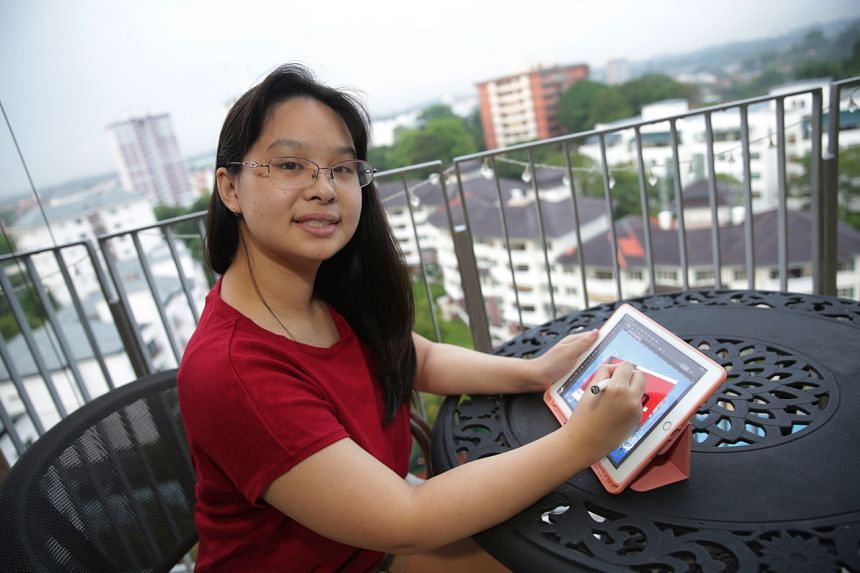 Ms Angie Ng, 18, has a place at Tsinghua University in Beijing, where she will pursue a degree in visual communication design or information design.