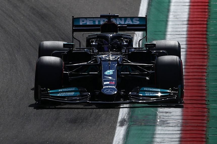 Lewis Hamilton during the qualifying session of the F1 Grand Prix Emilia Romagna, at Imola race track, Italy, on April 17, 2021.