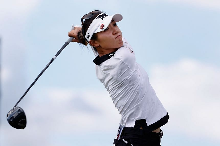 Lydia Ko plays a tee shot during the third round of the LPGA LOTTE Championship in Kapolei, Hawaii, on April 16, 2021.