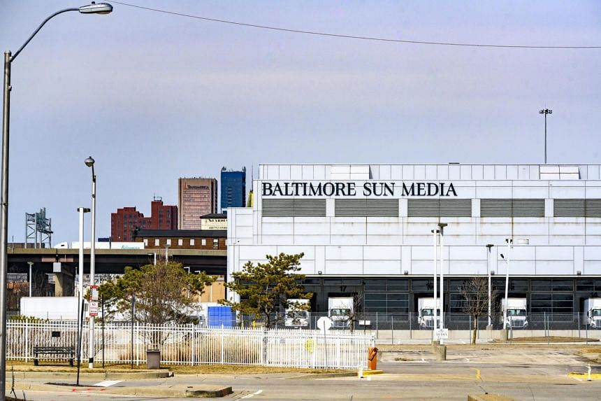 The Baltimore Sun Port Covington Campus in Baltimore, on Feb 17, 2021. The Baltimore Sun is one of the papers owned by Tribune Publishing, the company Hansjorg Wyss and Stewart Bainum Jr hope to acquire.