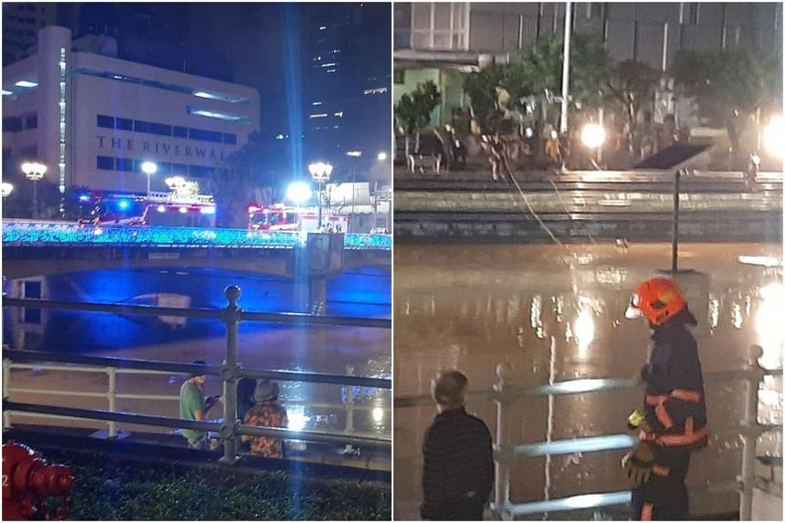 The bodies of two men were retrieved from the Singapore River on April 18, 2021.