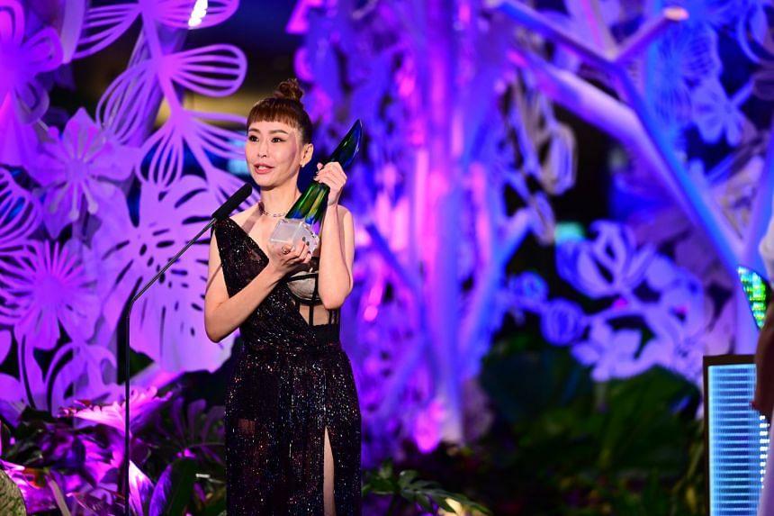 Ann Kok wins Top Ten Most Popular Female Artiste at Star Awards 2021.