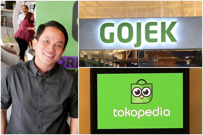 Gojek CEO Andrew Soelistyo (left) will be heading the app giant that will be created when Gojek and Tokopedia merge.
