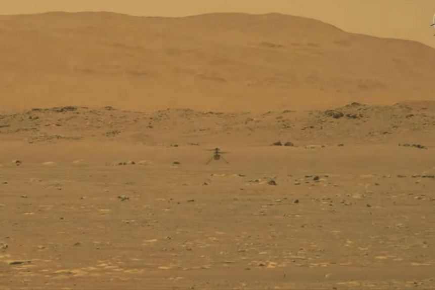 The timing of the helicopter flight is chosen with the weather on Mars in mind.