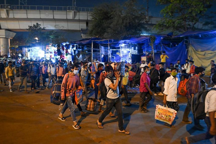 The exodus from New Delhi and other Indian cities comprises migrants from villages and small towns.