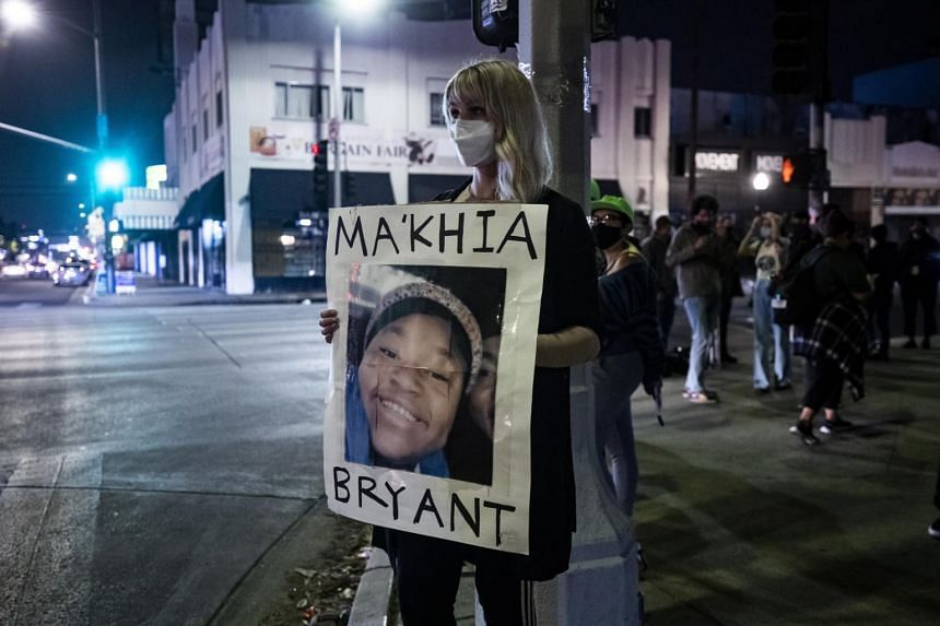 The girl who was killed was identified as Ma'Khia Bryant.