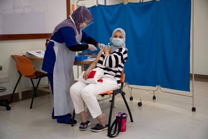 Malaysia aims to achieve herd immunity by vaccinating 80 per cent of the population by the end of the year.