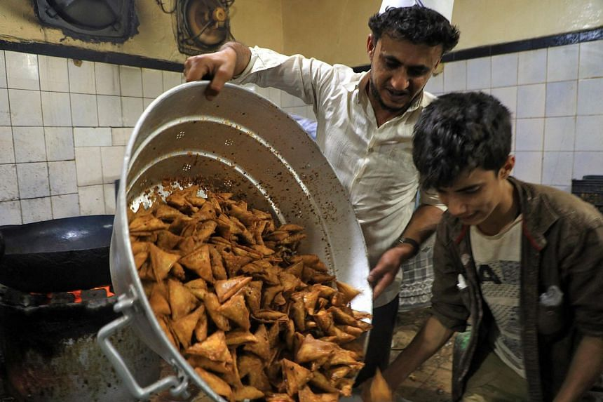 Sambusa stuffed with vegetables or meat are found across the Middle East and are a cousin of the South Asian samosa.
