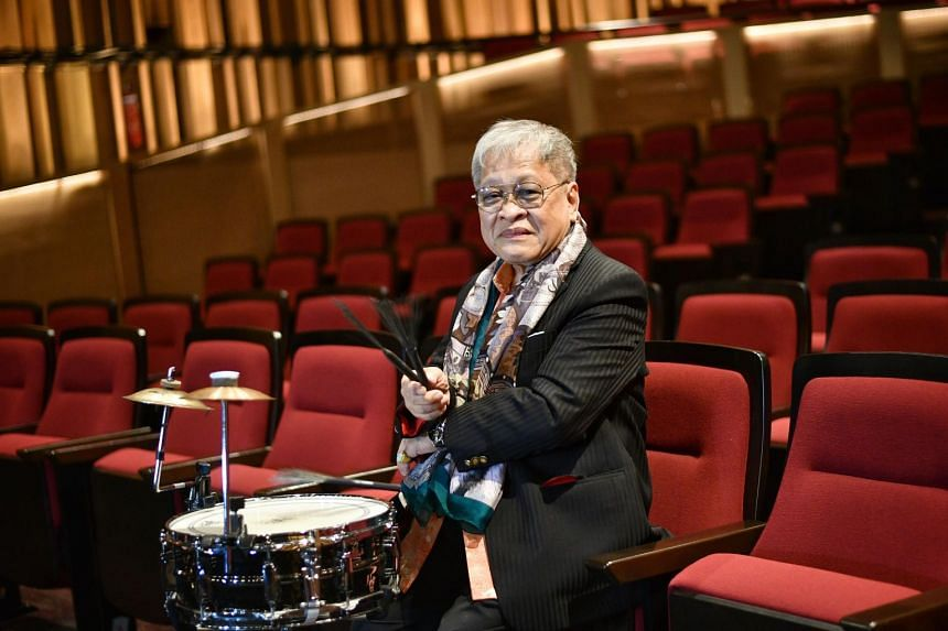 Cultural Medallion winner and jazz icon Louis Soliano at Victoria Theatre, on April 15, 2021.